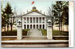 Augusta Maine~State Capitol~View From Bottom of Steps~3 Flights~Fence~c1905