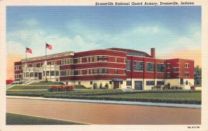 National Guard Armory, Evansville, Indiana, Early Postcard, Unused