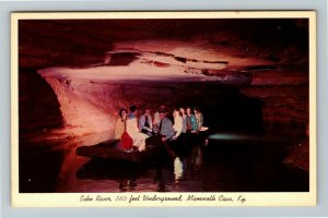 Mammoth Cave KY- Kentucky, Echo River, Mammoth Cave Natl Park, Chrome Postcard