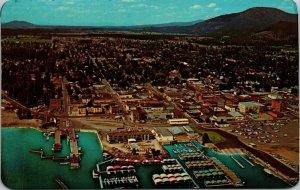Coeur d' Alene Aerial View Postcard ~ Idaho CHROME VINTAGE