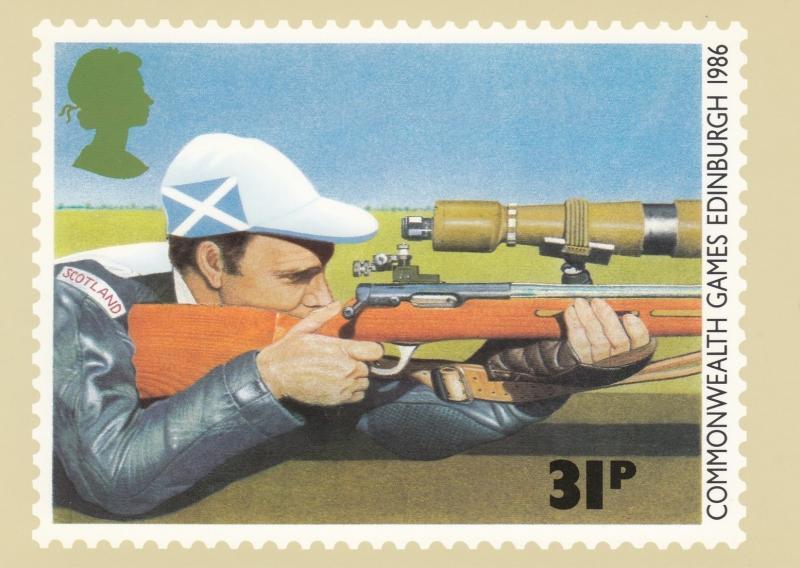 Shooting Guns, Rifle shooting Postcard , 1986
