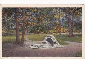 Pennsylvania Gettysburg Spangler's Spring Curteich