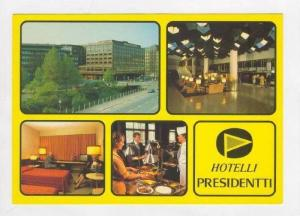 Hotelli Presidentti, Helsinki, Finland 1970s 4-view postcard