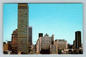 Montreal- Canada, Montreal Skyline, Panoramic Views, Chrome Postcard
