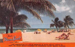 This is Miami Beach, Florida, America's Year 'Round Playground, Postcard