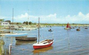 Vintage Hampshire Postcard, Boats at Keyhaven near Hurst Castle GP8