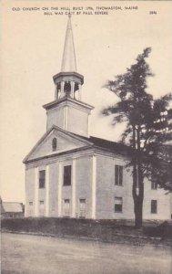 Maine Thomaston Old Church On the Hill Built 1796