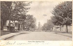 Danbury Connecticut~Terrace Place Residential Neighborhood~Homes~1907 Postcard