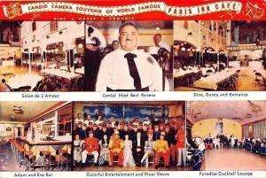 Los Angeles~Paris Inn Cafe~Bert Rovere~Adam Eve Bar~Floor Show~Dance~1950s PC