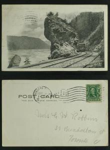Through the Gorge Railway Trolley c 1905-10