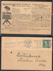 Illinois, Chicago, Marsh Manufacturing, advertisement, mailed