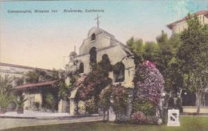 California Riverside Campanario Mission Inn Handcolored Albertype