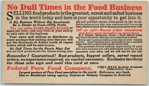 Chicago Advertising Postcard Federal Pure Food Company c1940s Unused