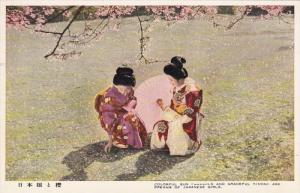 Colorful San Parasols And Graceful Kimono Are Dreams Of Japanese Girls, JAPAN...