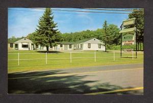 NH View Sleepy Hollow Motel Rye New Hampshire Postcard Carte Postale