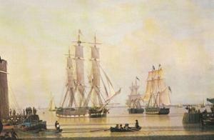 John Ward William Lee Ship Yorkshire Boat River Victorian Painting Postcard