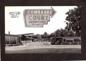 SC Combahee Court Motel Gardens Corner South Carolina Postcard Yemassee