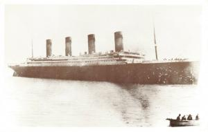 Postcard, A View of the Titanic from the Tender approaching from Queenstown 34V