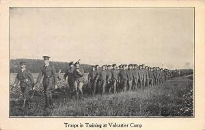 Troops Training at Valcartier Camp, Quebec, Canada, Early Postcard, Unused