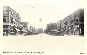 Nappanee Indiana~Main Street Looking South~Ford Dealer~Boston Store~B&W 1920s