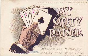 Card Game Four Aces & A Deuce My Safety Raiser 1905