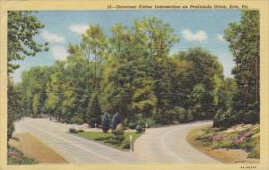 Pennsylvania Governor Fisher Intersection On Peninsula Drive 1950