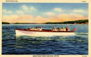 ME - Oakland. Boating on Long Lake