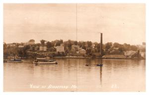 Maine , View of Biideford from ocean  RPC