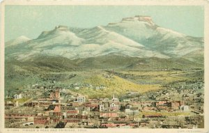 Fisher's Peak And Trinidad, CO Fred Harvey Postcard