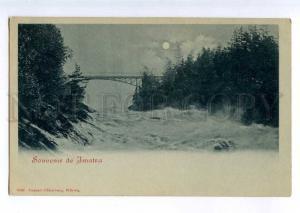 235393 FINLAND Jmatra MOONLIGHT Vintage Oldenburg postcard