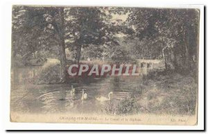 Chalons sur Marne Old Postcard The canal and siphon