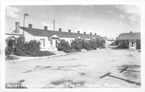 F16/ Browning Montana RPPC Postcard c1950s Moyer's Modern Cabins