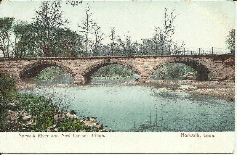 Norwalk, Conn., Norwalk River And New Canaan Bridge