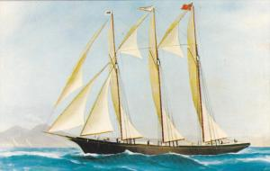 Tern Schooner TOBEATIC , 50-60s Picture in Harbour Room , The Battery , S...