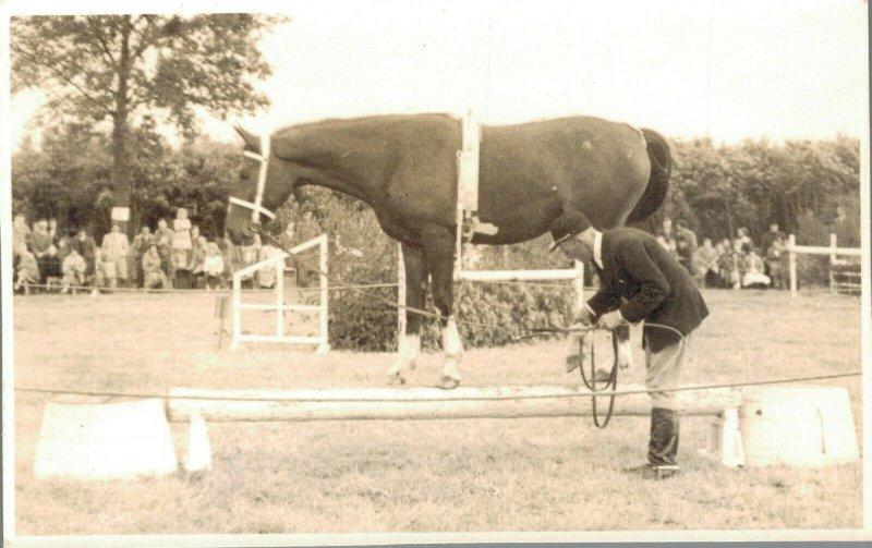 Horse Sports Hippique Real Photo Postcard 03.91