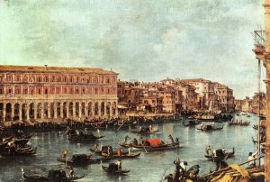 Giant Size Italy Art Postcard, Venice, Veduta del Canal Grande by Guardi OS224