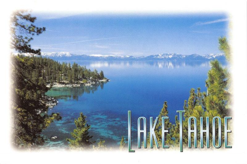 Postcard 1999 Crystal Clear Waters of Lake Tahoe, Nevada, California,USA J37