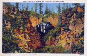 [ Linen ] US Wyoming Yellowstone - Natural Bridge