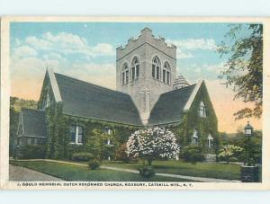 W-Border ROXBURY CHURCH SCENE Catskill Mountains New York NY L5879