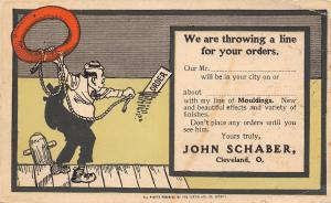 Cleveland OH~John Schaber Co Advertising For Mouldings~Life Preserver c1906?