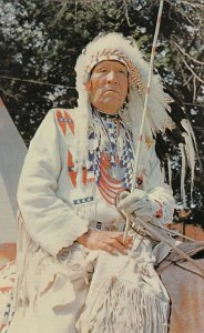 Blackfoot Tribe Indian Chief , Canada , 50-60s