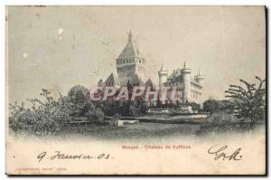 Old Postcard Morges Chateau Vufflens Insurance Company Winterthur Switzerland