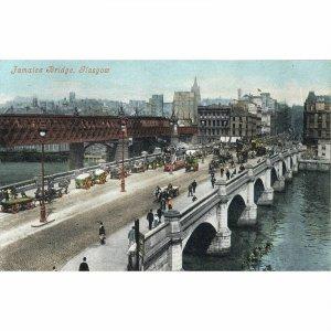 Valentine's Series Postcard 'Jamaica Bridge, Glasgow'