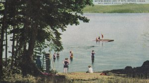 LAKE OF BAYS, Ontario, Canada, 1900-1910s; Bathing Beach