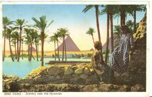 Egypt, Cairo, Scenery near the Pyramids, early 1900s