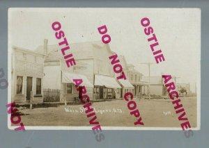 Rogers NORTH DAKOTA RPPC 1911 MAIN STREET nr Jamestown Valley City 46 PEOPLE!