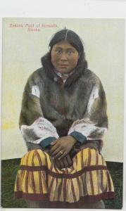 c1910 KEEWALIK Alaska AK Postcard ESKIMO MAID Woman Native