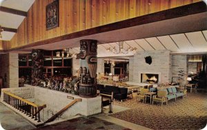 JASPER PARK LODGE Main Lounge Interior Alberta, Canada c1950s Vintage Postcard