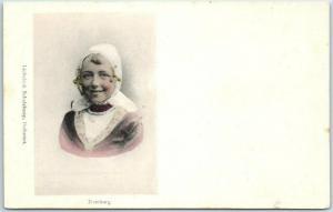 DOMBURG Netherlands Holland Postcard Girl in Native Dress / Costume 1910s Unused