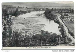 The River Bank Drive, Springfield, Oregon, OR,  Divided Back